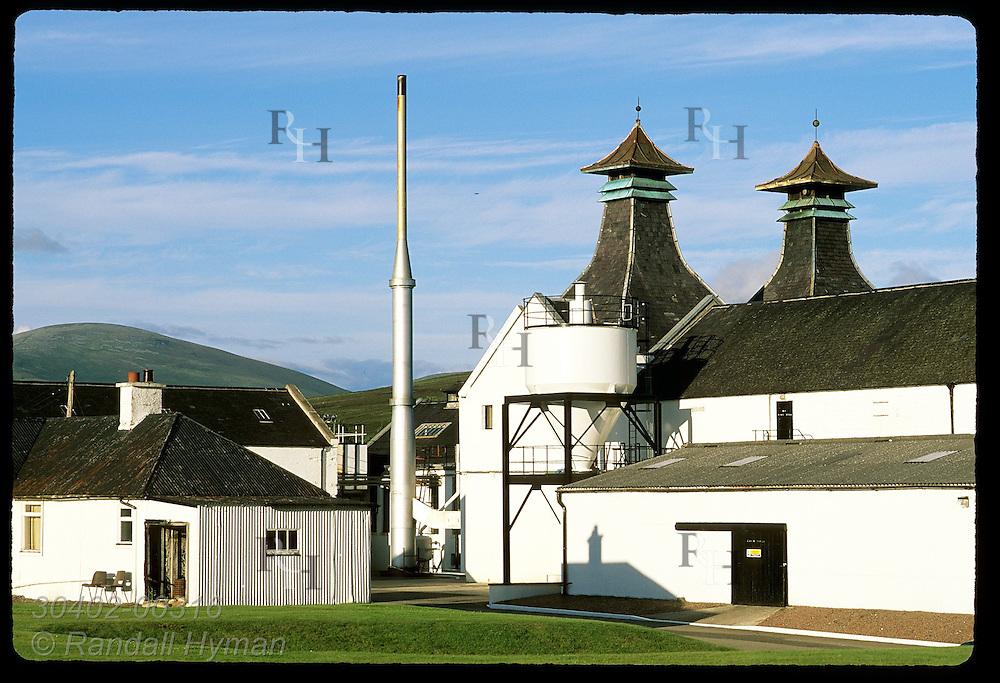 Dalwhinnie Distillery, the highest in Scotland (elevation 1073'), on a summer evening; Dalwhinnie. Scotland