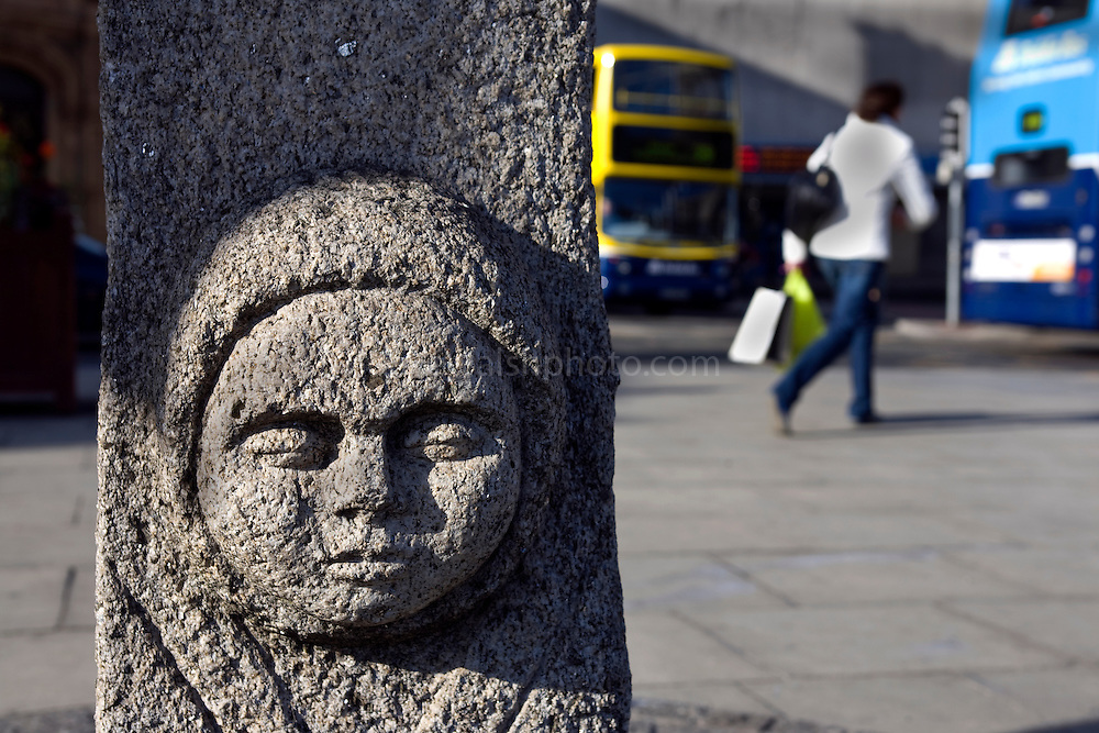 The Steine, Dublin - a replica at the junctions of Pearse, Hawkins and D'Olier St , marking the possible location of the Steine, or Long Stone, a marker for the original Viking, Anglo Norman to Medieval landing point on the River Liffey,