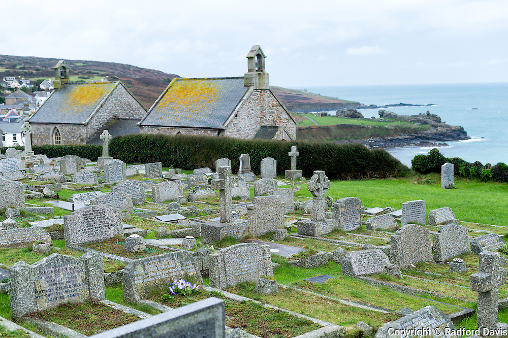 Cemetery, St. Ives, Cornwall, England