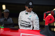 October 8-11, 2015: Russian GP 2015: Lewis Hamilton (GBR), Mercedes looks at Vettel's Ferrari after qualifying.