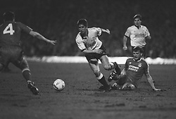 Action from the Derby County v Liverpool match
