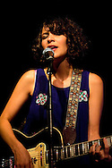 Gaby Moreno performs live at Rich Mix, on the first night of the La Linea Festival 2014. Shoreditch, London, UK (4 April 2014). The Guatemalan-born singer won the Latin Grammy for best new artist in November 2013.