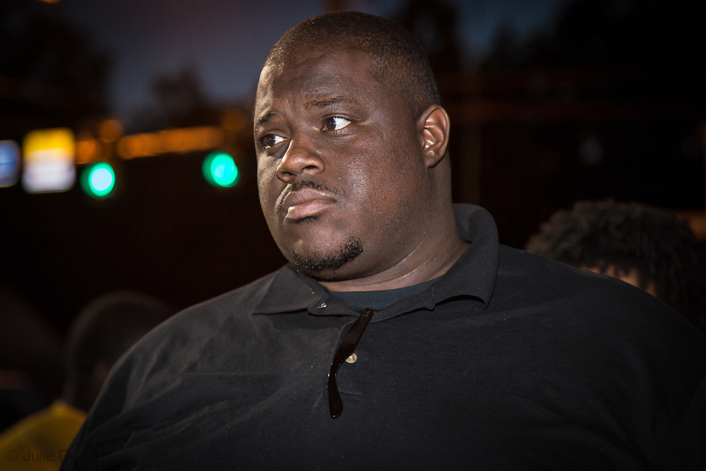 Gary Chambers, a community leader  at a vigil for Alton Sterling on May 2, 2017 in Baton Rouge, Louisiana held in front of  the Trilple S Food Mart U.S. the day news leaked that the Justice Department  will not prosecute thee police officer who shot and killed Sterling last summer.