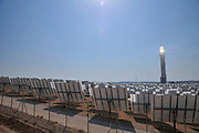 The Ashalim Solar Power station is a solar thermal power station in the Negev desert near the kibbutz of Ashalim, in Israel. The station will provide 121 Megawatt of electricity (2.0% of the Israeli consumption), which makes it the largest of its kind in Israel and 5th largest in the world. The mirrors focus sun rays to onto the tower, thus producing steam