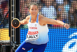 Great Britain's Jade Lally competes in the Women's Discus Throw Qualifying during day eight of the 2017 IAAF World Championships at the London Stadium