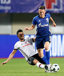 ZHUHAI, July 19, 2017  Fabian Reese (R) of FC Schalke 04 vies with Tolgay Arslan of Besiktas JK during a pre-season soccer match at Zhuhai Sports Center Stadium in Zhuhai, south China's Guangdong Province, July 19, 2017. FC Schalke 04 won 3-2. (Credit Image: © Wang Lili/Xinhua via ZUMA Wire)