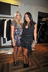 Left to right, sisters PETRA ECCLESTONE and TAMARA ECCLESTONE at a party hosted by Petra Ecclestone at Matches, 87 Marylebone High Street, London on 7th September 2009.