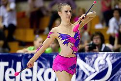 Maristella Toniutti of Italy during 24th MTM International Youth Tournament in Rhythmic Gymnastics organized by Narodni dom Ljubljana, on April 9, 2011 in Arena Krim Galjevica, Ljubljana, Slovenia.  (Photo By Vid Ponikvar / Sportida.com)