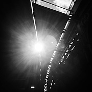Morning light streaks through the roof at Borough Market.<br /> <br /> Shot on iPhone 6.