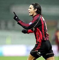 "Filippo Inzaghi (Milan) <br />Semifinal Italy ""Tim Cup"" 2006-2007<br />25 Jan 2007 <br />Milan-Roma (2-2)<br />""Giuseppe Meazza"" Stadium-Milano-Italy<br />Photographer:Jennifer Lorenzini INSIDE"