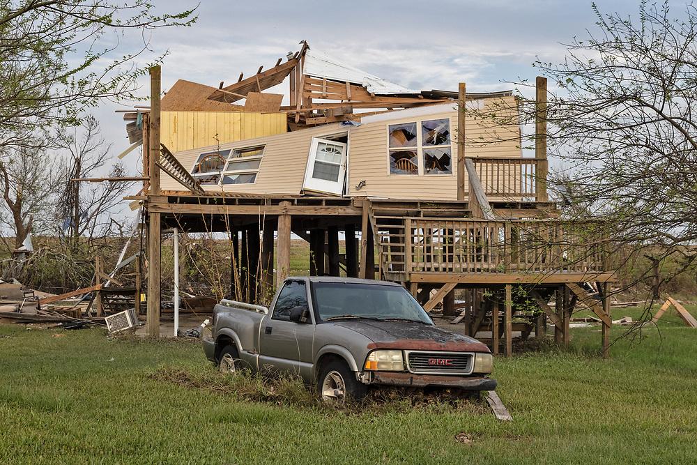 Damage done by Hurricane Ida  in Pointe-aux-Chene , LA.