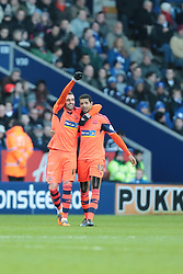 Bolton Wanderers' Andre Moritz celebrates after scoring Bolton's equalising goal - Photo mandatory by-line: Nigel Pitts-Drake/JMP - Tel: Mobile: 07966 386802 29/12/2013 - SPORT - FOOTBALL - King Power Stadium - Leicester - Leicester City v Bolton Wanderers - Sky Bet Championship