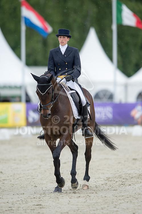 Lisa Sabbe (BEL) & Maxwell Steele - Dressage - CIC3* - Luhmuhlen 2014 - Salzhausen, Germany - 13 June 2014