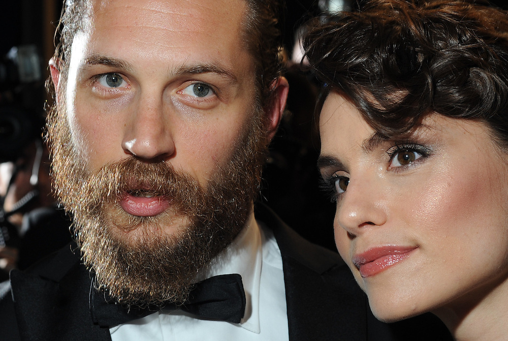 Actor Tom Hardy and girlfriend Rachel Speed leaving the red carpet of 'Lawless' at the 65th Cannes film festival on May 19, 2012 in Cannes..Photo Ki Price.