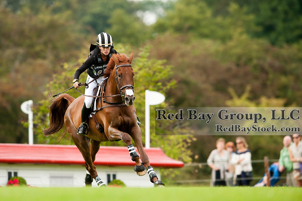 Sinead Halpin and Manoir de Carneville at the 2011 Land Rover Burghley Horse Trials in Stamford, UK.