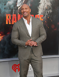 Rampage Premiere at The Microsoft Theatre in Los Angeles, California on 4/4/18. 04 Apr 2018 Pictured: Dwayne Johnson. Photo credit: River / MEGA TheMegaAgency.com +1 888 505 6342
