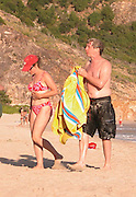 **EXCLUSIVE**.Martin Short with a female friend.Salines Beach, St. Barth, Caribbean.Thursday, January, 15, 2003.Photo By Celebrityvibe.com/Photovibe.com...