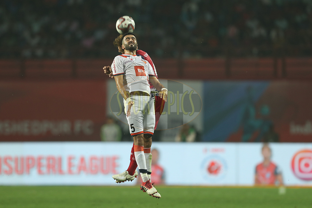 Ahmed Jahouh of FC Goa during match 25 of the Hero Indian Super League 2018 ( ISL ) between Jamshedpur FC and FC Goa held at JRD Tata Sports Complex, Jamshedpur, India on the 1st November  2018<br /> <br /> Photo by: Ron Gaunt /SPORTZPICS for ISL