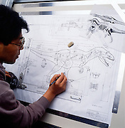 T. Rex robotic dinosaur designed by the Japanese Company  Kokoro.