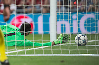 Keylor Navas of Real Madrid during the match of Champions League between Real Madrid and FC Bayern Munchen at Santiago Bernabeu Stadium  in Madrid, Spain. April 18, 2017. (ALTERPHOTOS)