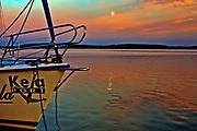 Zachód słońca na Jeziorze Święcajty