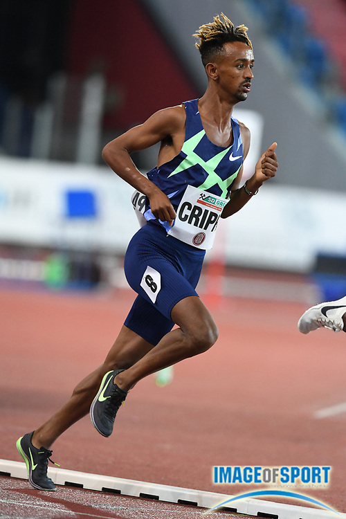 during the 59th Ostrava Golden Spike  meeting at Mestky Stadion, Tuesday, Sept. 8, 2020, in the Czech Republic. (Jiro Mochiuaki/Image of Sport via AP)