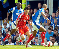 Photo: Ed Godden.<br /> Portsmouth v Liverpool. The Barclays Premiership. 28/04/2007. Liverpool's Mark Gonzalez (centre) takes the ball forward.