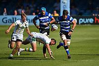 Rugby Union - 2020 / 2021 Gallagher Premiership - Round 22 - Bath vs Northampton Saints - Recreation Ground<br /> <br /> Bath Rugby's Josh Bayliss scores his sides fourth try.<br /> <br /> COLORSPORT/ASHLEY WESTERN