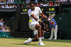 6 July 2017 -  Wimbledon Tennis (Day 4) - Gael Monfils (FRA) in action during his 2nd round match - Photo: Marc Atkins / Offside.