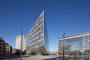 The Crystal aka Krystallen, Copenhagen. Nykredit headquarters at the Kalvebod Brygge waterfront in Copenhagen. Architect: Schmidt Hammer Lassen. Built 2011