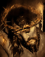 """Crucified Face of Christ - Painting by Dino Carbetta""…<br />