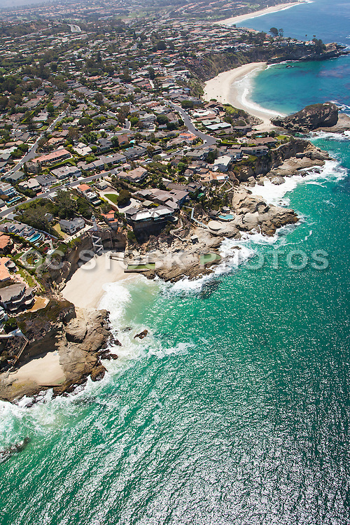 Aerial Stock Photo of Laguna Beach Looking South