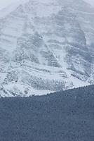 Mount Temple in winter, Banff National Park Alberta Canada