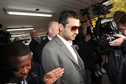 © London News Pictures. 03/11/2011. London, UK. Cricket agent Mazhar Majeed  arriving at Southwark Crown Court, London today (03/11/2011) where he is due to be sentenced for his part in a match-fixing scandal. Three Pakistan cricketers,  Salman Butt, Mohammad Asif and Mohammad Amir have been found guilty of conspiracy to cheat and conspiracy to obtain and accept corrupt payments.  Photo credit: Ben Cawthra/LNP