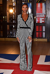 Judge Alesha Dixon attending the Britain's Got Talent auditions at the Blackpool Opera House