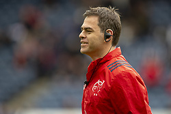 March 30, 2019 - Edinburgh, Scotland, United Kingdom - Munster Head Coach Johann van Graan during the Heineken Champions Cup Quarter Final match between Edinburgh Rugby and Munster Rugby at Murrayfield Stadium in Edinburgh, Scotland, United Kingdom on March 30, 2019  (Credit Image: © Andrew Surma/NurPhoto via ZUMA Press)