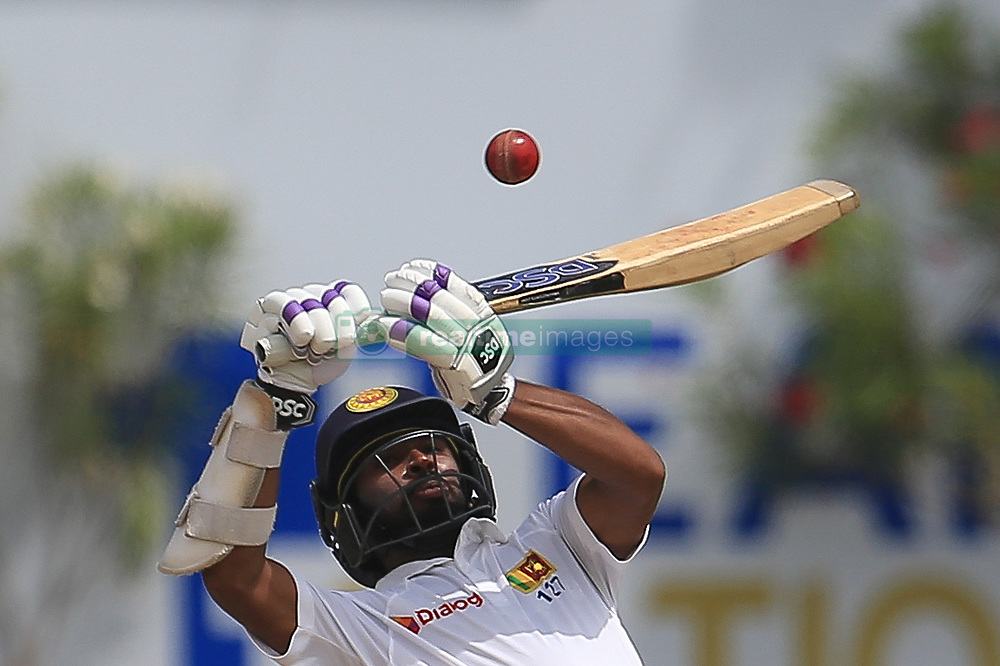 July 29, 2017 - Galle, Sri Lanka - Sri Lankan cricketer Niroshan Dickwella tries to play a shot during the 4th Day's play in the 1st Test match between Sri Lanka and India at the Galle cricket stadium, Galle, Sri Lanka on Saturday 29 July 2017. (Credit Image: © Tharaka Basnayaka/NurPhoto via ZUMA Press)