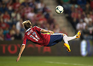 Chris Rolf #17 of the Chicago Fire attempts a bicycle kick shot during the second half against the San Jose Earthquakes at Toyota Park on July 3, 2013 in Bridgeview, Illinois.