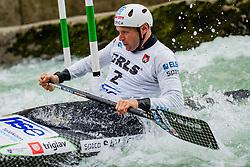 Benjamin SAVSEK (SLO) during Canoe Semi Finals at World Cup Tacen, 18 October 2020, Tacen, Ljubljana Slovenia. Photo by Grega Valancic / Sportida