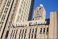 Chicago Tribuine building sign, Chicago, Illinois.