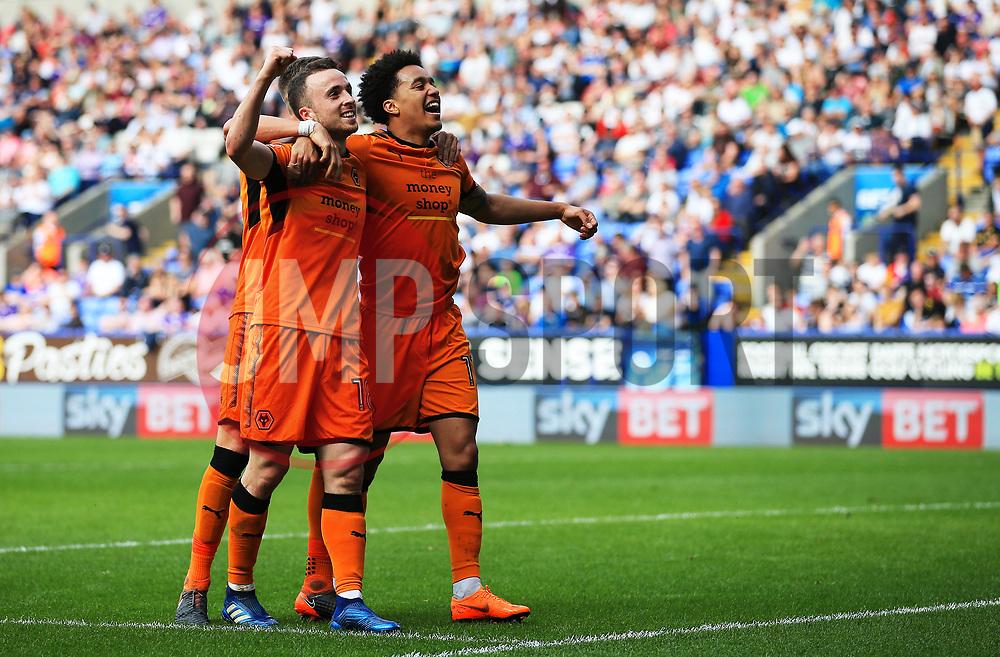 Diogo Jota of Wolverhampton Wanderers celebrates after scoring his sides third goal  - Mandatory by-line: Matt McNulty/JMP - 21/04/2018 - FOOTBALL - Macron Stadium - Bolton, England - Bolton Wanderers v Wolverhampton Wanderers - Sky Bet Championship