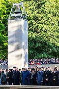 Prinses Margriet en  prof. mr. Pieter van Vollenhoven op het Militair Ereveld Grebbeberg in Rhenen de Nationale Militaire Dodenherdenking bij voor beroepsmilitairen en dienstplichtigen die sinds 1940 waar ook ter wereld voor het Koninkrijk zijn gevallen.<br /> <br /> Princess Margriet and Prof. Pieter van Vollenhoven at the Military Field of Honor Grebbeberg in Rhenen attend the National Military Remembrance Day for professional soldiers and conscripts who have fallen for the Kingdom anywhere in the world since 1940.