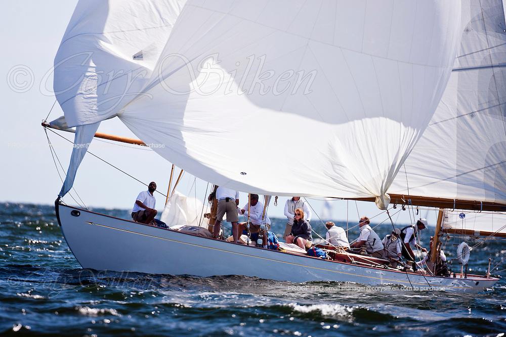 Dorade racing in the Sail For Pride regatta.