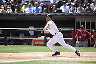 CHICAGO, IL - JUNE 26:  Omar Vizquel #11 of the Chicago White Sox bats against the Washington Nationals on June 26, 2011 at U.S. Cellular Field in Chicago, Illinois.  The Nationals defeated the White Sox 2-1.  (Photo by Ron Vesely/MLB Photos via Getty Images)  *** Local Caption *** Omar Vizquel