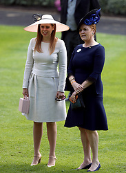 Sarah Ferguson, Duchess of York and daughter Princess Beatrice of York during day four of Royal Ascot at Ascot Racecourse.