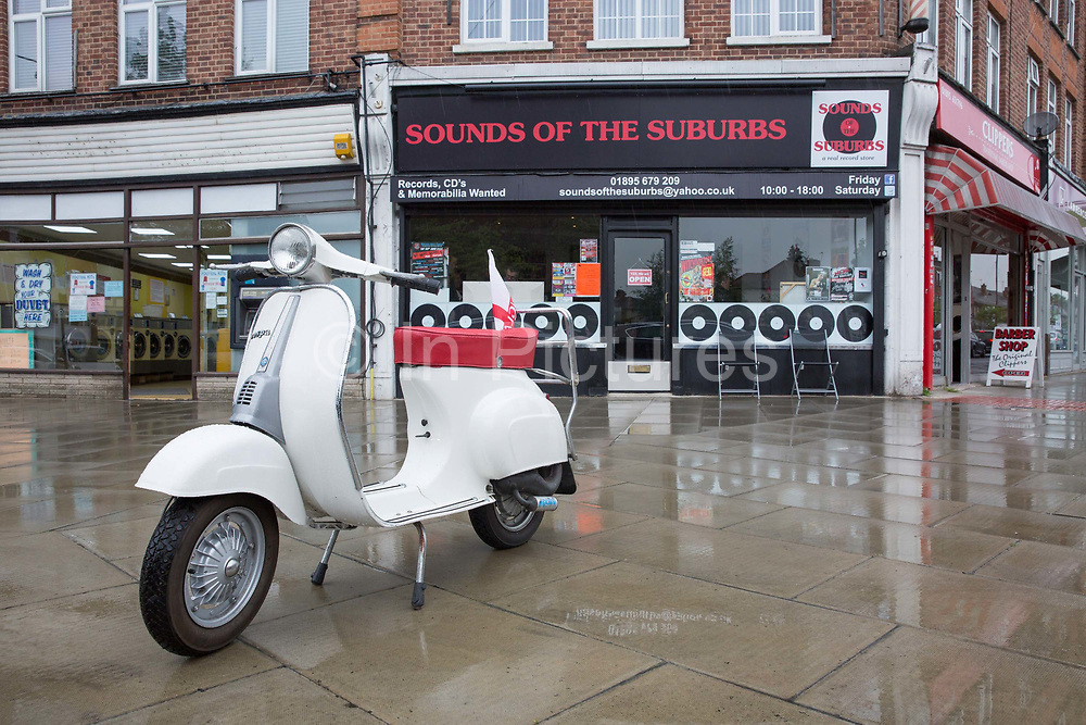 Sounds of the Suburbs record shop in Ruislip on the 12th May 2018 in North London in the United Kingdom.