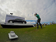 Geoff Ogilvy tees off on number eleven during the Hyundai Tour of Champions at Kapalua Plantation Course on Maui, HI