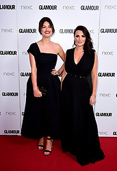 Nicola Chapman (right) and Samantha Chapman (left) of Pixiwoo attending the Glamour Women of the Year Awards 2017 in association with Next, Berkeley Square Gardens, London. PRESS ASSOCIATION Photo. Picture date: Tuesday June 6, 2017. Photo credit should read: Ian West/PA Wire