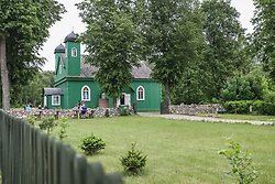 June 16, 2017 - Bialowieza, Poland - Oldest Tatar mosque in Poland is seen in  Kruszyniany, Poland, on 16 June 2017 Kruszyniany Mosque - a wooden mosque located in the village of Kruszyniany was first mentioned in a document dating back to 1717. The village of Kruszyniany was assigned to the Tatars by King John III Sobieski, who had participated in the war against the Ottoman Empire, who stood on the side of the Polish-Lithuanian Commonwealth. After the Tatar populous settled in the area, the Tatars built the mosque. (Credit Image: © Michal Fludra/NurPhoto via ZUMA Press)