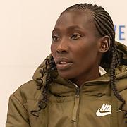 17-10-2019: Atletiek: Persconferentie TCS Amsterdam Marathon: Amsterdam Linet Masai (KEN)